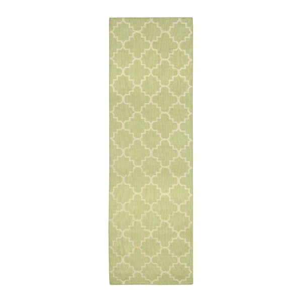 Vllněný koberec Darien Lime, 76x182 cm