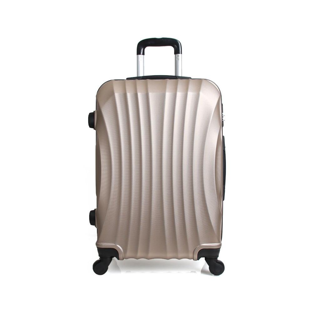 Cestovní kufr ve zlaté barvě na kolečkách Hero Moscou-e, 30 l