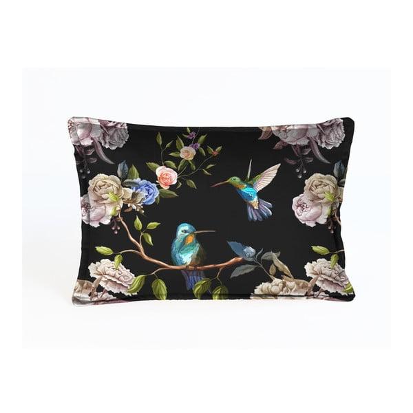 Aksamitna poszewka dekoracyjna na poduszkę Velvet Atelier Colibiris, 50x35 cm
