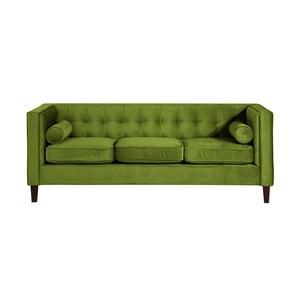 Olivově zelená  třímístná pohovka Max Winzer Jeronimo