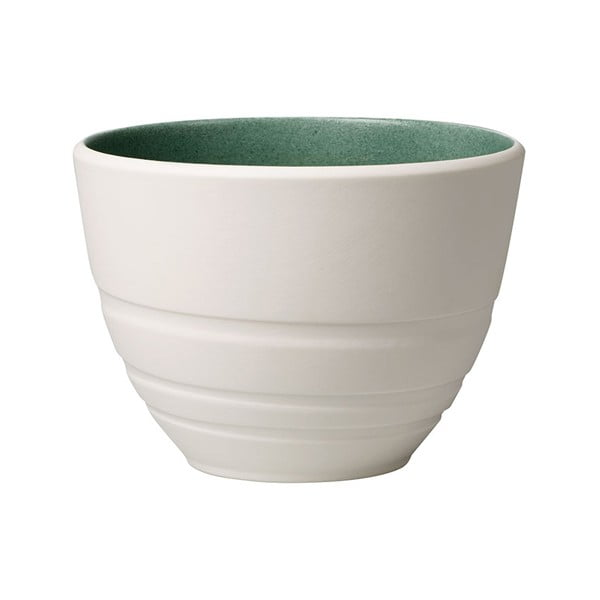 Bílo-zelený porcelánový šálek Villeroy & Boch Leaf, 450 ml