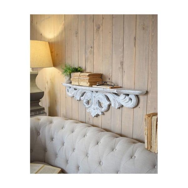 Biała półka z drewna mango Orchidea Milano Antique, dł. 91 cm