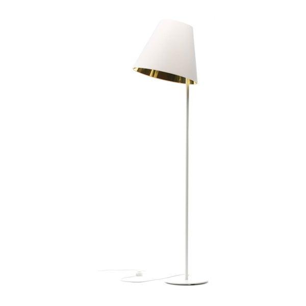 Bílo-zlatá stojací lampa 4room Book, 158 cm