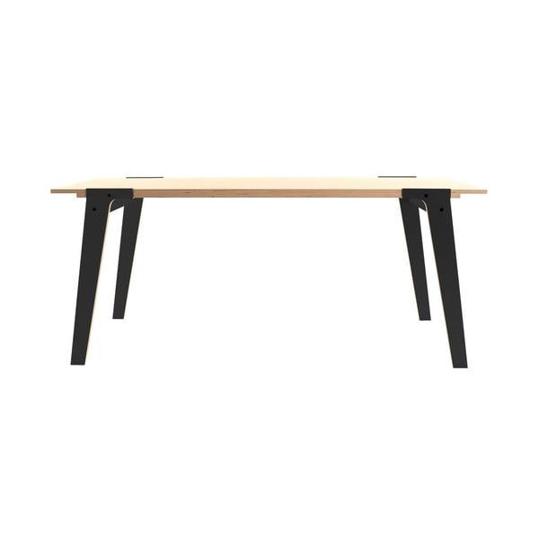 Černý jídelní/pracovní stůl rform Switch, deska 180x78 cm