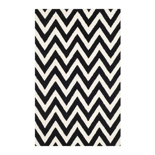 Vlněný koberec Safavieh Stella 121x182 cm, černý