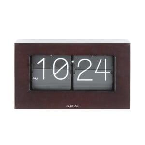 Ceas de birou și masă Present Time Boxed Flip, maro