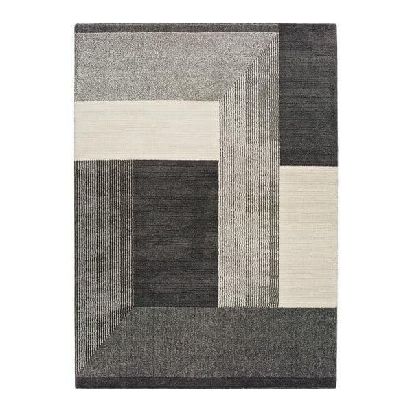 Šedý koberec Universal Tanum Blocks, 80 x 150 cm
