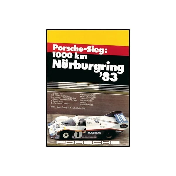 Plakát Porsche Sieg Nürburgring 1983, 70x50 cm