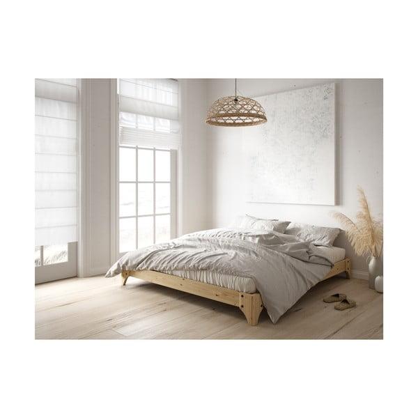 Černá postel z borovicového dřeva Karup Design Elan, 140 x 200 cm