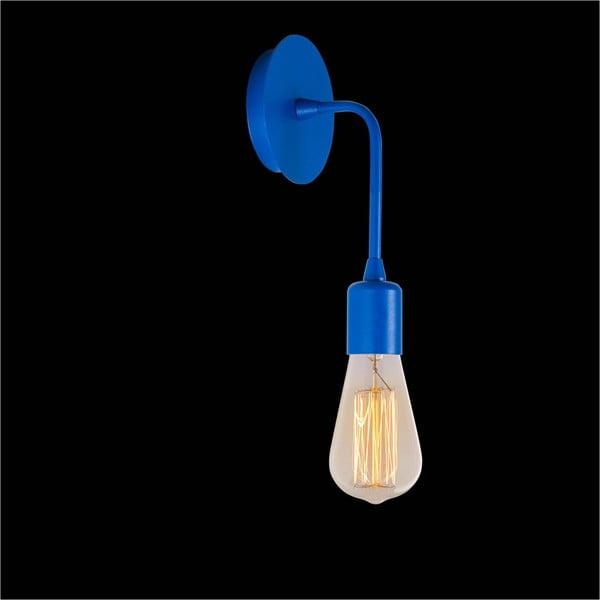 Modrá nástěnná lampa Simple Drop