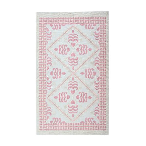 Pudrový bavlněný koberec Floorist Flair, 80x300cm