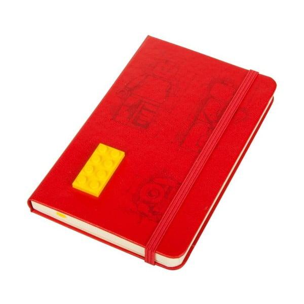 Zápisník Moleskine Lego Red, linkovaný