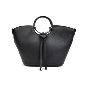 Černá kožená kabelka AnnaLuchini Emma