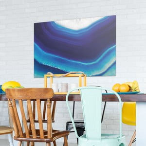 Skleněný obraz OrangeWallz Gemstone Blue, 76 x 114 cm