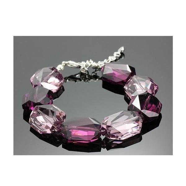 Náramek Swarovski Elements Large Drops Violet