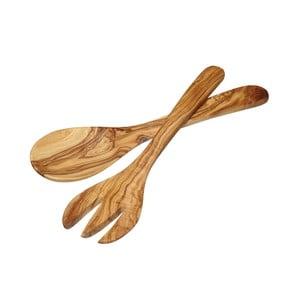 Salátový příbor z olivového dřeva Kitchen Craft Italian