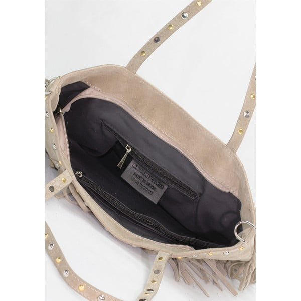 Kožená kabelka Lisa Minardi 136 Taupe