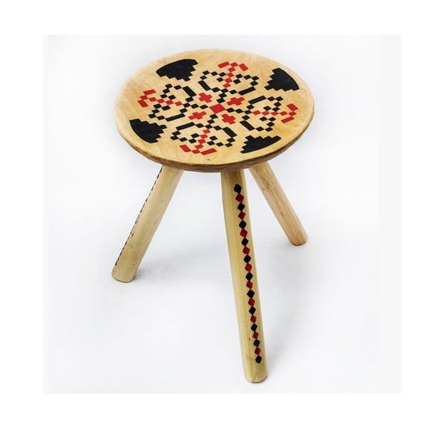 Ručně malovaná stolička Iara, 38 cm