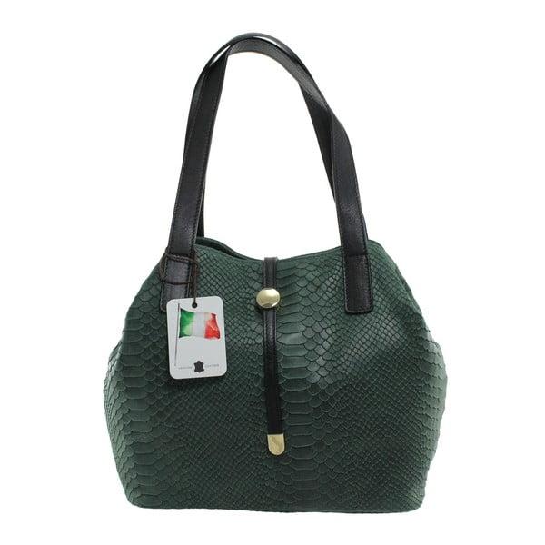 Zelená kožená kabelka Giulia