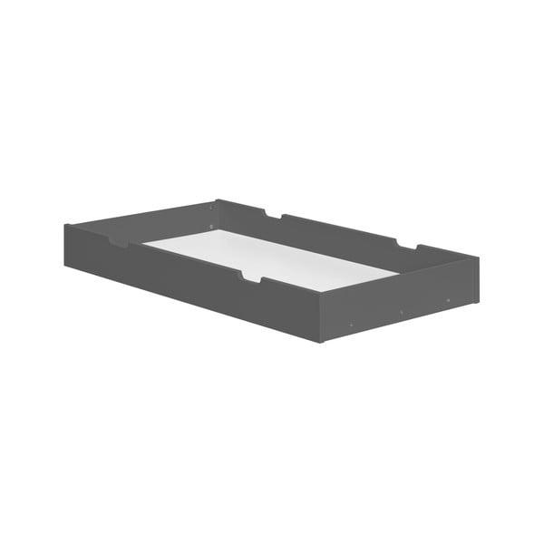 Tmavě šedá zásuvka pod dětskou postýlku Pinio Cot, 140 x 70 cm