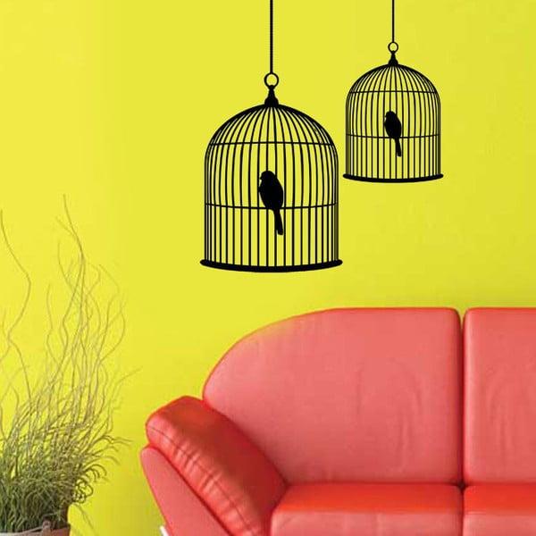 Vinylová samolepka na stěnu Ptačí klícky