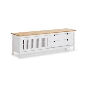 Masă TV din lemn Marckeric Bruna, alb