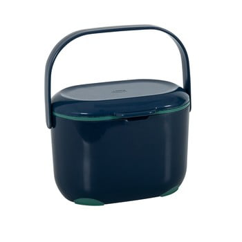 Recipient pentru compost deșeuri organice Addis Caddy, 2,5 l, albastru-verde imagine