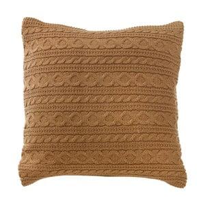 Pletený polštář s náplní Cacao