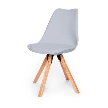 Set 2 scaune cu structură din lemn de fag loomi.design Eco, gri poza