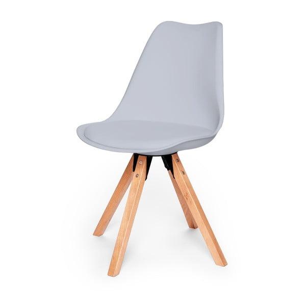 Scaun cu structură din lemn de fag loomi.design Eco, gri