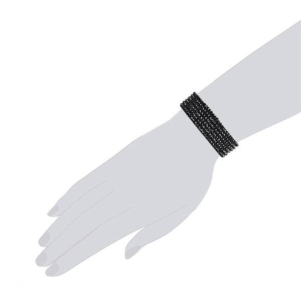 Náramek Simply Black, 19 cm