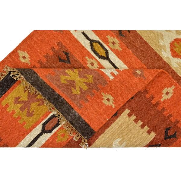 Ručně tkaný koberec Orange Indians, 90x150 cm