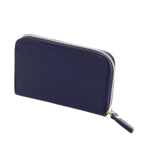 Tmavě modrá peněženka z pravé kůže Andrea Cardone Saffiano