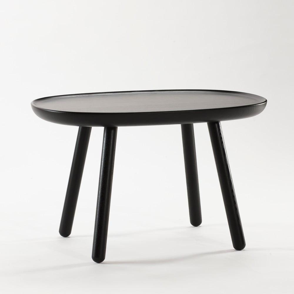 Černý odkládací stolek z masivu Emko Naïve Medium