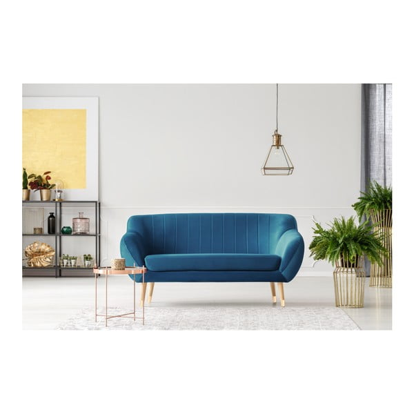 Modrá dvoumístná pohovka Mazzini Sofas Benito