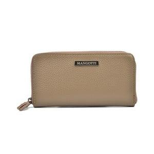 Šedohnědá kožená peněženka Mangotti Bags Flora