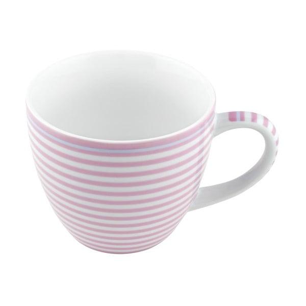 Porcelánový šálek Lines, růžový 4 ks