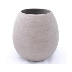 Keramický květináč Goccia 28 cm, šedý