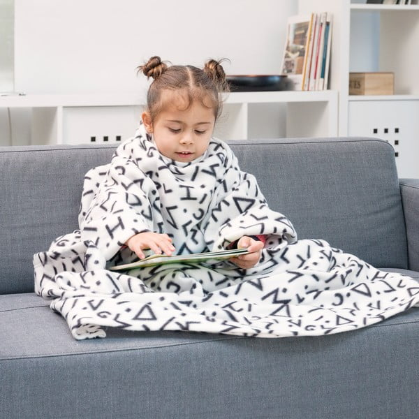 Biela detská deka s rukávmi InnovaGoods Snug Symbols Kangoo
