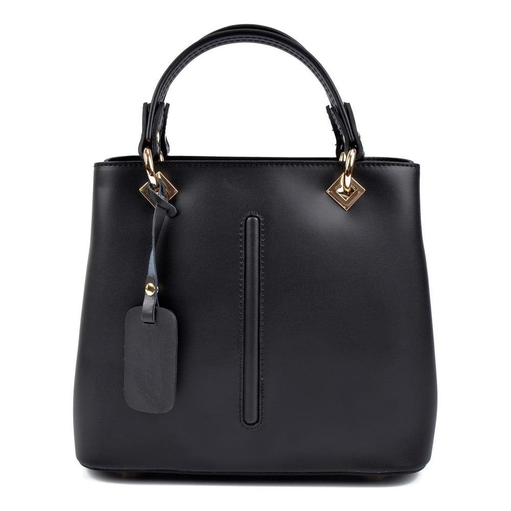 Černá kožená kabelka Roberta M Bella