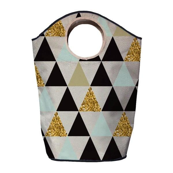 Koš na prádlo Butter Kings Gold Triangles