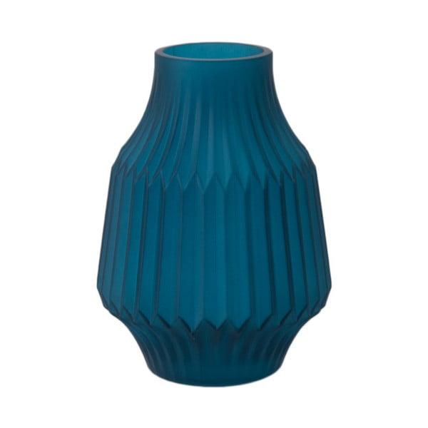 Modrá skleněná váza PT LIVING, Ø 13,5 cm