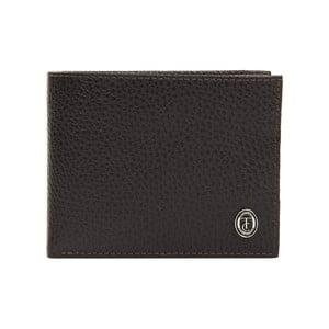 Hnědá pánská kožená peněženka Trussardi Pickpocket, 12,5 x 9,5 cm