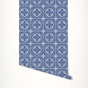 Modrá samolepicí tapeta LineArtistica Sally, 60 x 300 cm