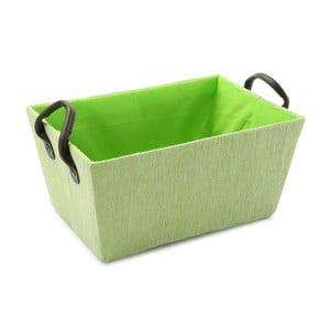 Zelený košík s úchyty Green Handle, 30x25cm