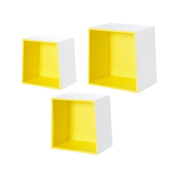 Set 3 rafturi de perete Furniteam Design