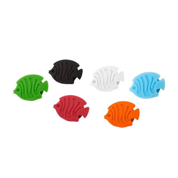 Sada 6 ks rozlišovačů na skleničky Balvi Aquarium