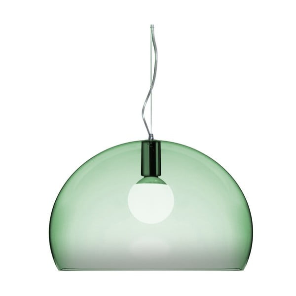 Světle zelené stropní svítidlo Kartell Fly, ⌀52cm