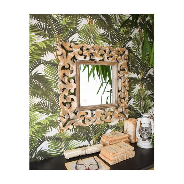 Zrkladlo z jedlového dreva Orchidea Milano Palais Royale, 62 x 62 cm