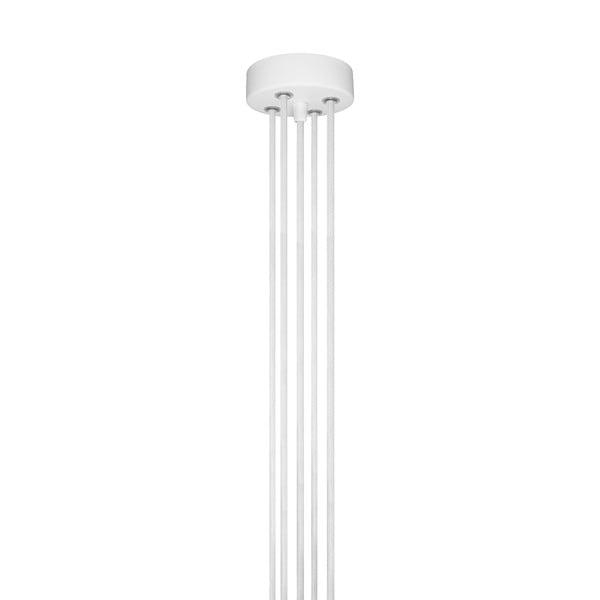Závěsné svítidlo s 5 bílými kabely a měděnou objímkou Bulb Attack Cero Group